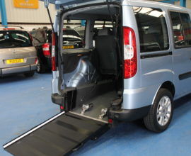Fiat doblo wheelchair accessible car yx61okj