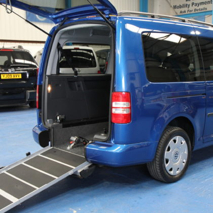 VW Caddy Maxi Wheelchair accessible car yn61