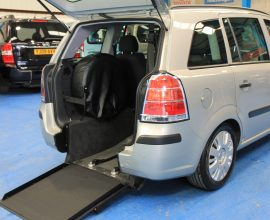 Zafira Petrol wheelchair car ov07lnx