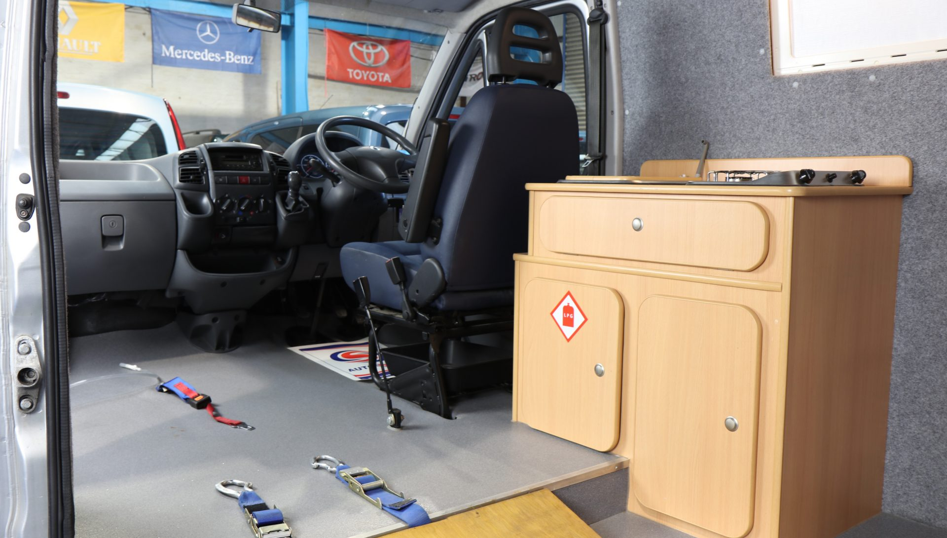 Day Van with toilet, sink, hob, wheelchair lift