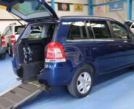 Vauxhall Zafira petrol Auto wheelchair car