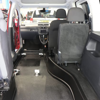 Vw Caddy Auto Wheelchair rides upfront car