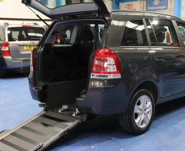 Vauxhall Zafira wheelchair car ny64
