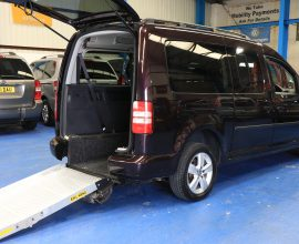 Caddy with longer Wheelchair space winch