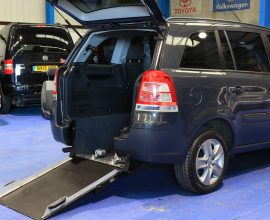 Vauxhall zafira Wheelchair car nv63