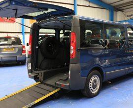 Vauxhall Vivaro 6 seats plus wheelchair